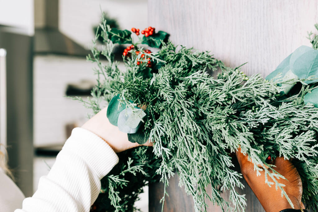 Decorating for Christmas with Garland large preview