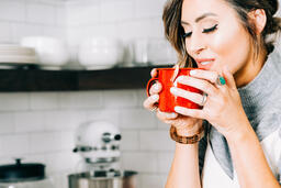 Woman Drinking Hot Cocoa  image 2