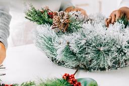 Woman Making a Christmas Wreath  image 3