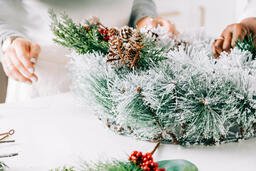 Woman Making a Christmas Wreath  image 2