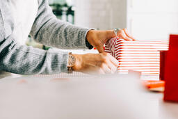 Woman Wrapping a Christmas Present  image 2