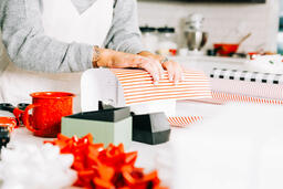 Woman Wrapping a Christmas Present  image 3
