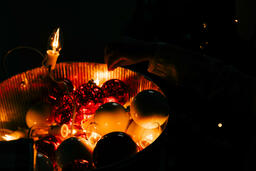 Bucket of String Lights and Christmas Ornaments  image 3