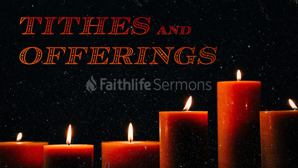 Tithes And Offering Candle large preview