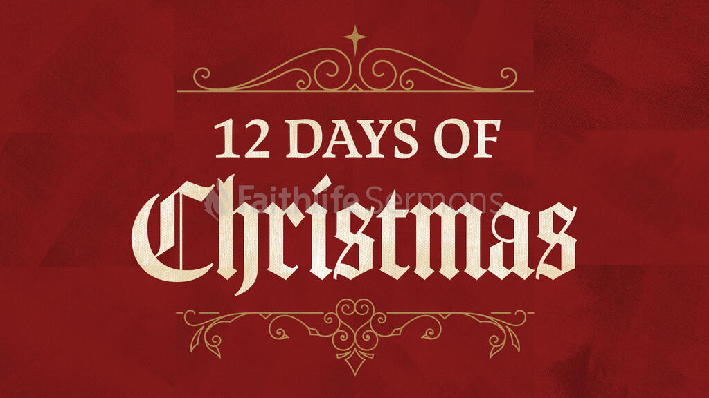 12 Days Of Christmas Red large preview