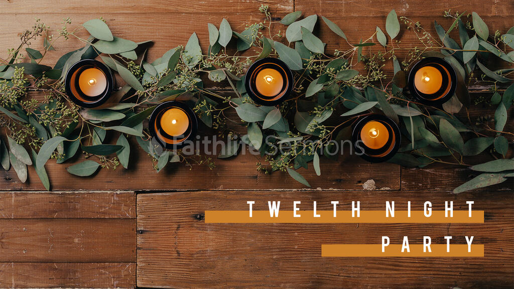 Twelfth Night Party Candle large preview