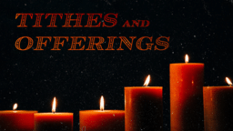 Tithes And Offering Candle  PowerPoint Photoshop image 1