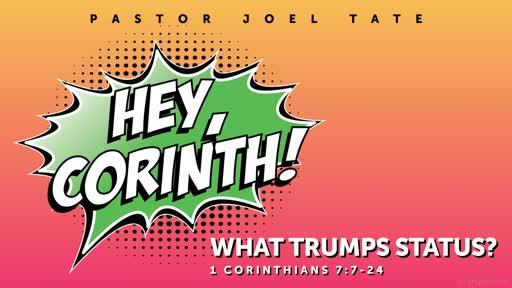 10/20/19 Hey, Corinth! What Trumps Status?