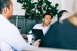 Man Listening During a Meeting  image 2