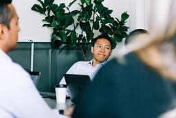 Man Listening During a Meeting  image 1