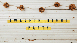 Twelfth Night Party Pinecone  PowerPoint Photoshop image 1