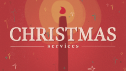 Christmas Services Red Candle  PowerPoint image 1