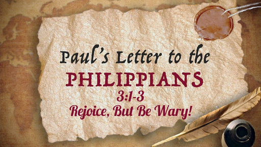 October 27, 2019 - Rejoice, But Be Wary! Pt. 3