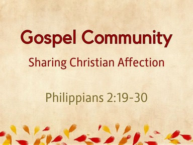 Gospel Community: Sharing Christian Affection