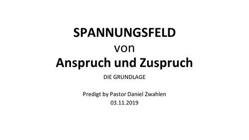 Gottesdienst, 03.11.2019