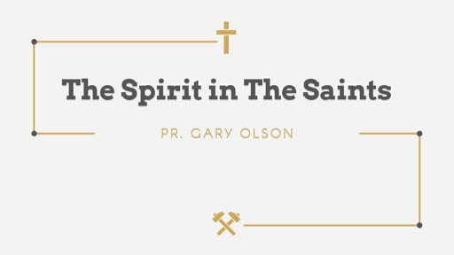 The Spirit in the Saints