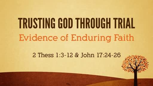 Nov 3 - Trusting God through Trial