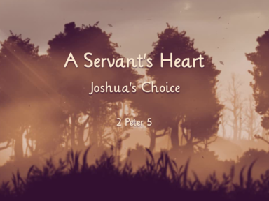 Nov 3 A Servant's Heart