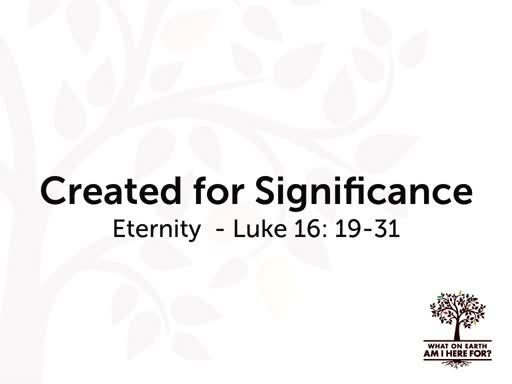 Created for a Reason: Eternity