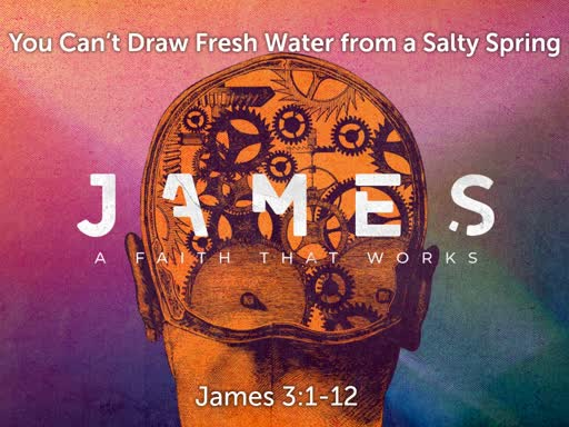 James: You Can't Draw Water from a salty Spring