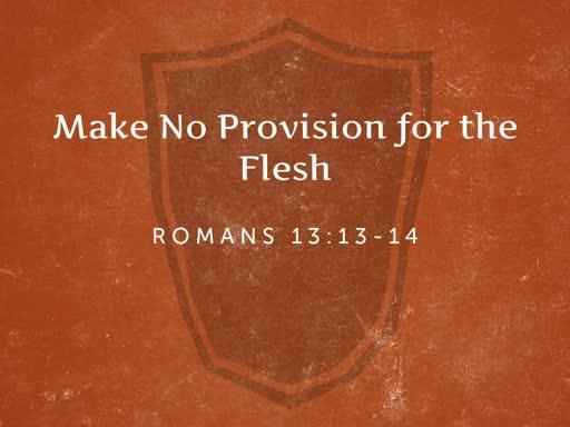 Make no Provision for the Flesh