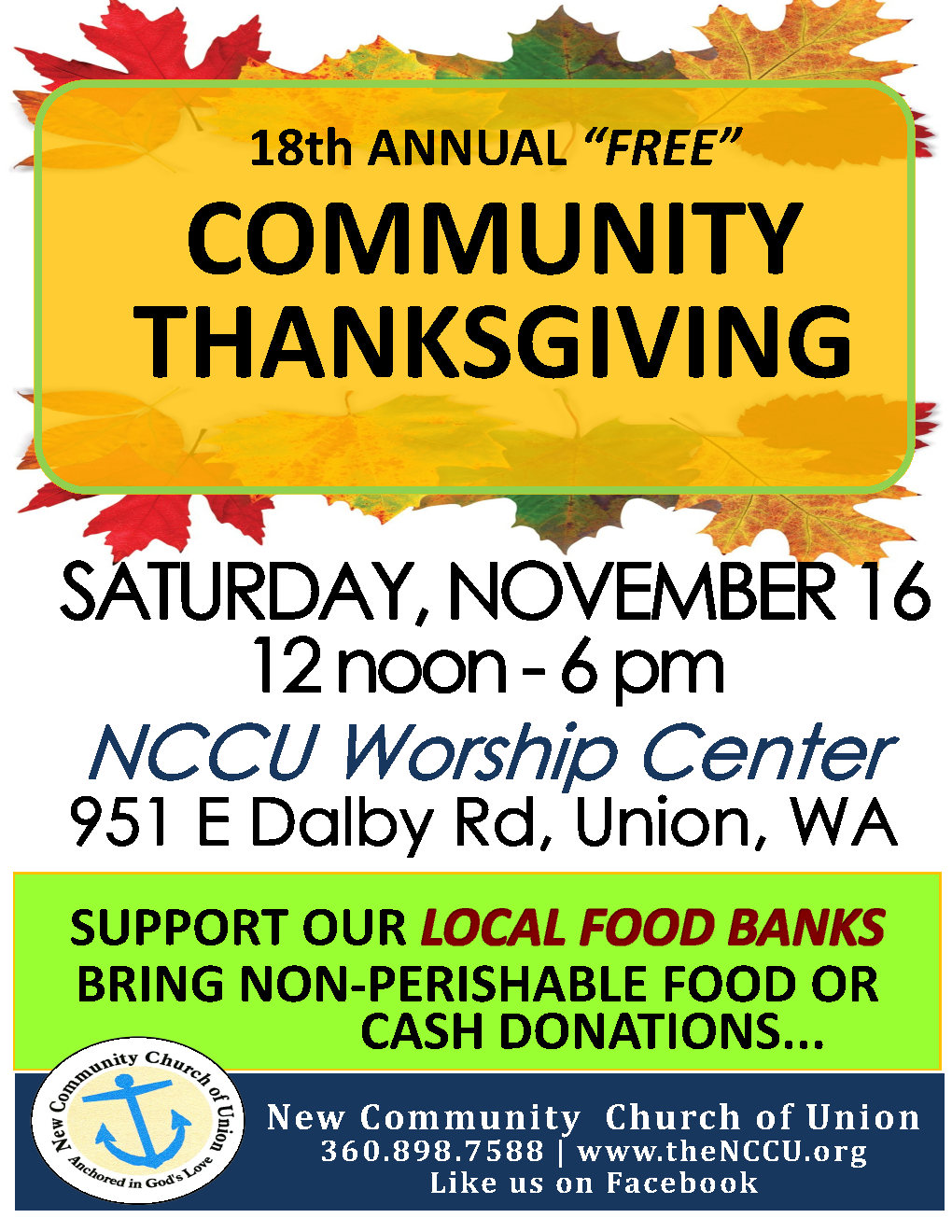 2019 NCCU Thanksgiving Flyer