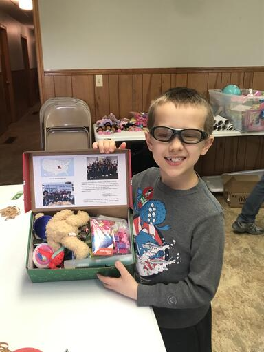 OCC Shoebox packing party 2019