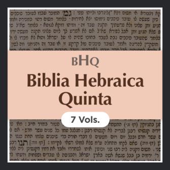 Biblia Hebraica Quinta with Apparatus | BHQ (7 vols.)