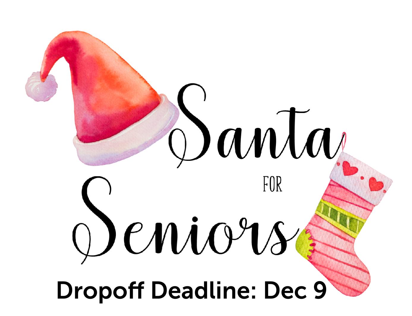 Santa For Seniors Poster