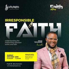 IRRESPONSIBLE FAITH.