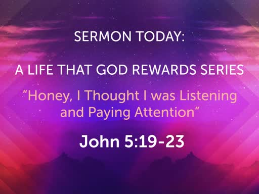 November Sunday Worship- A Life That God Rewards Series