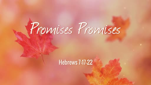 Hebrews 7:17-22 / Promises Promises
