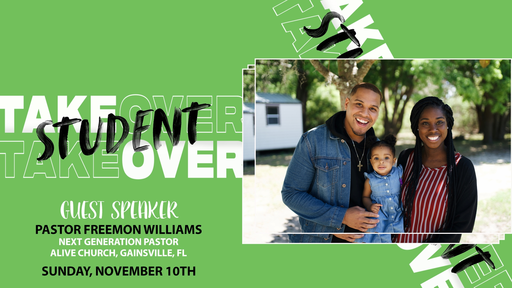 Sunday November 10, 2019 Student Takeover Service