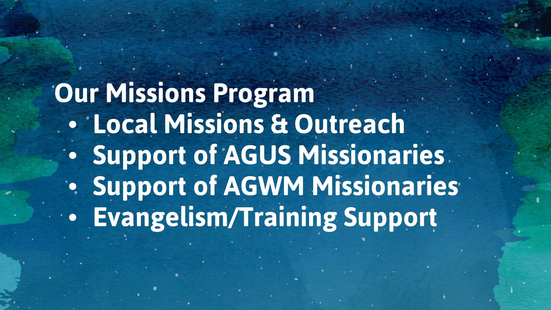 NAG Missions Program