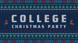 College Christmas Party  PowerPoint image 1