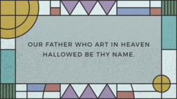 The Lords Prayer  PowerPoint image 16