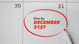 Give By December 31st  PowerPoint image 1