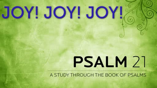 JOY! JOY! JOY! - Psalm 20 - Wednesday November 13