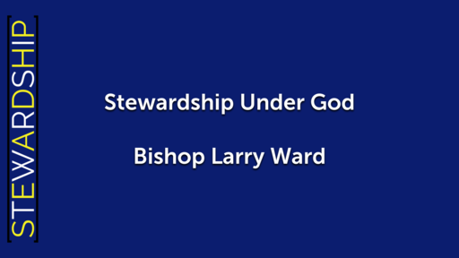 Stewardship Under God