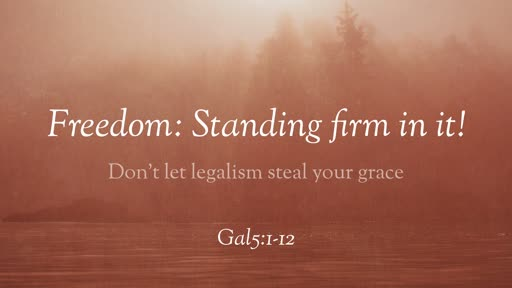Freedom: Standing firm in it!