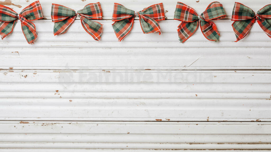 Plaid Christmas Bows large preview