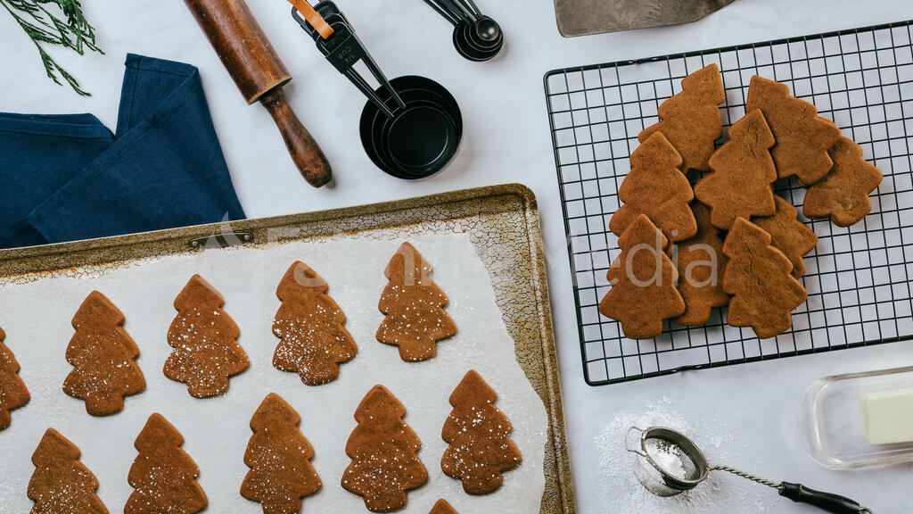 Baking Gingerbread Cookies large preview