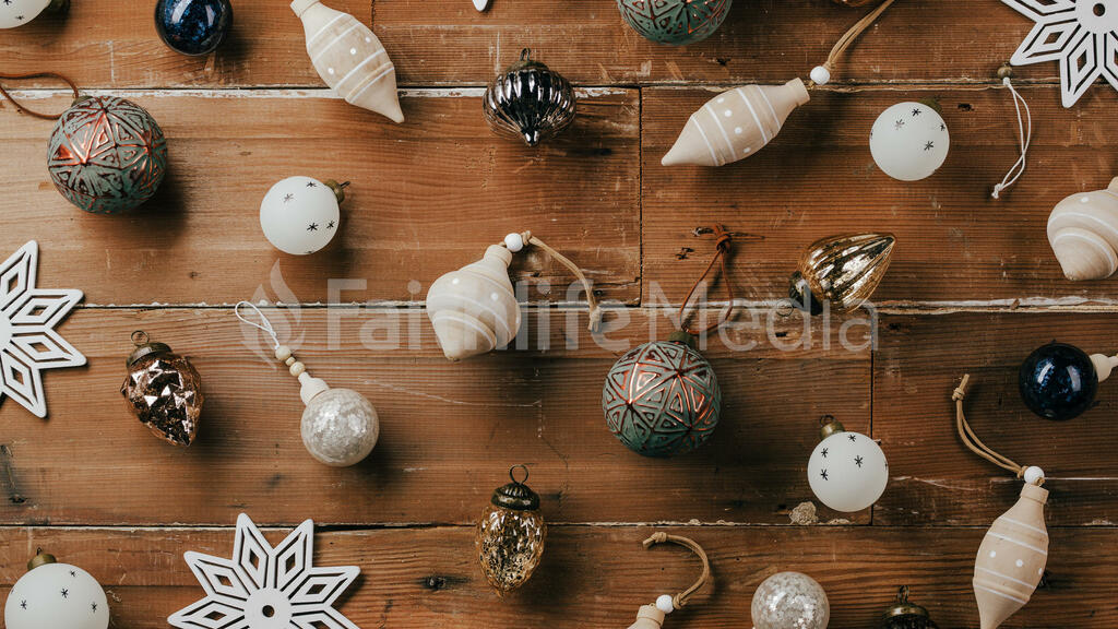 Scattered Christmas Ornaments large preview