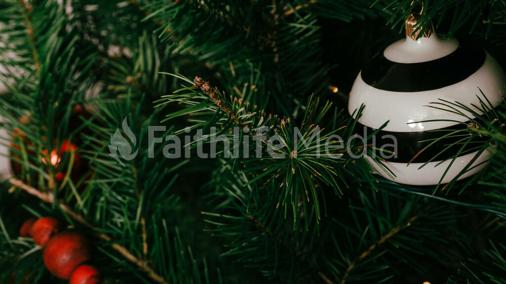 Striped Christmas Ornament large preview