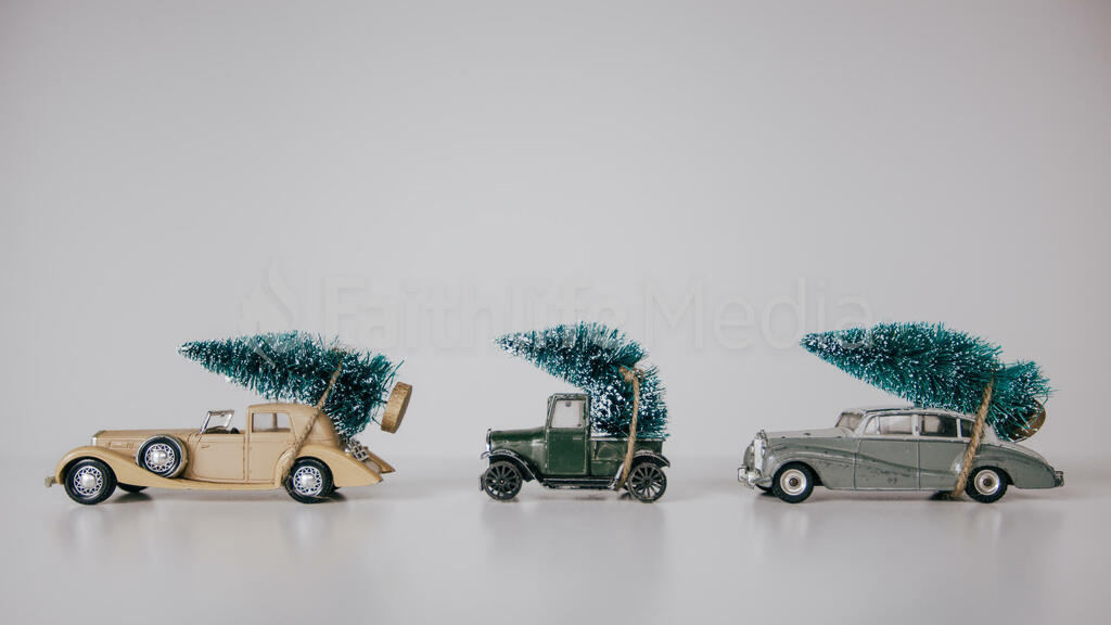 Toys Cars Hauling Christmas Trees large preview
