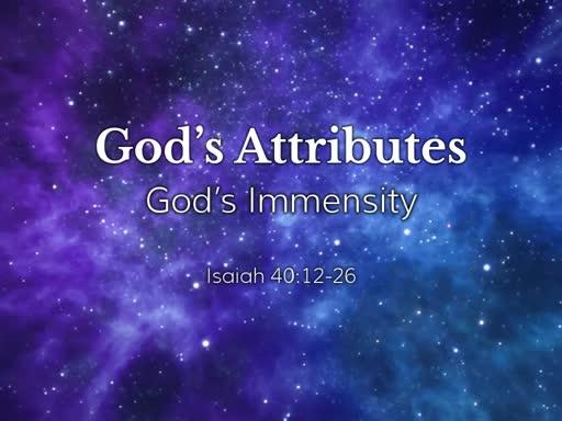 God's Immensity