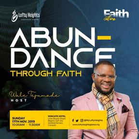 ABUNDANCE THROUGH FAITH.
