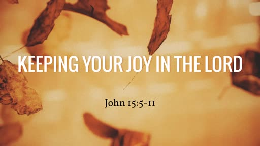 Keeping Your Joy in the Lord