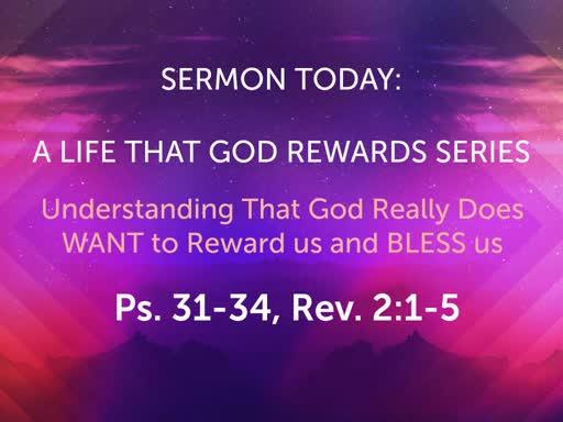 November Sunday Worship- A Life That God Rewards Series