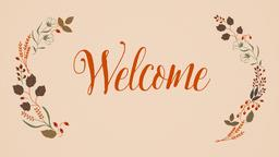 Thanksgiving welcome 16x9 PowerPoint Photoshop image